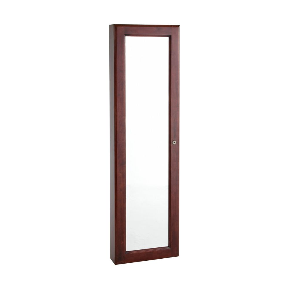 434-144 - Holly & Martin™ Cherry Finish Wall-Mount Jewelry Mirror