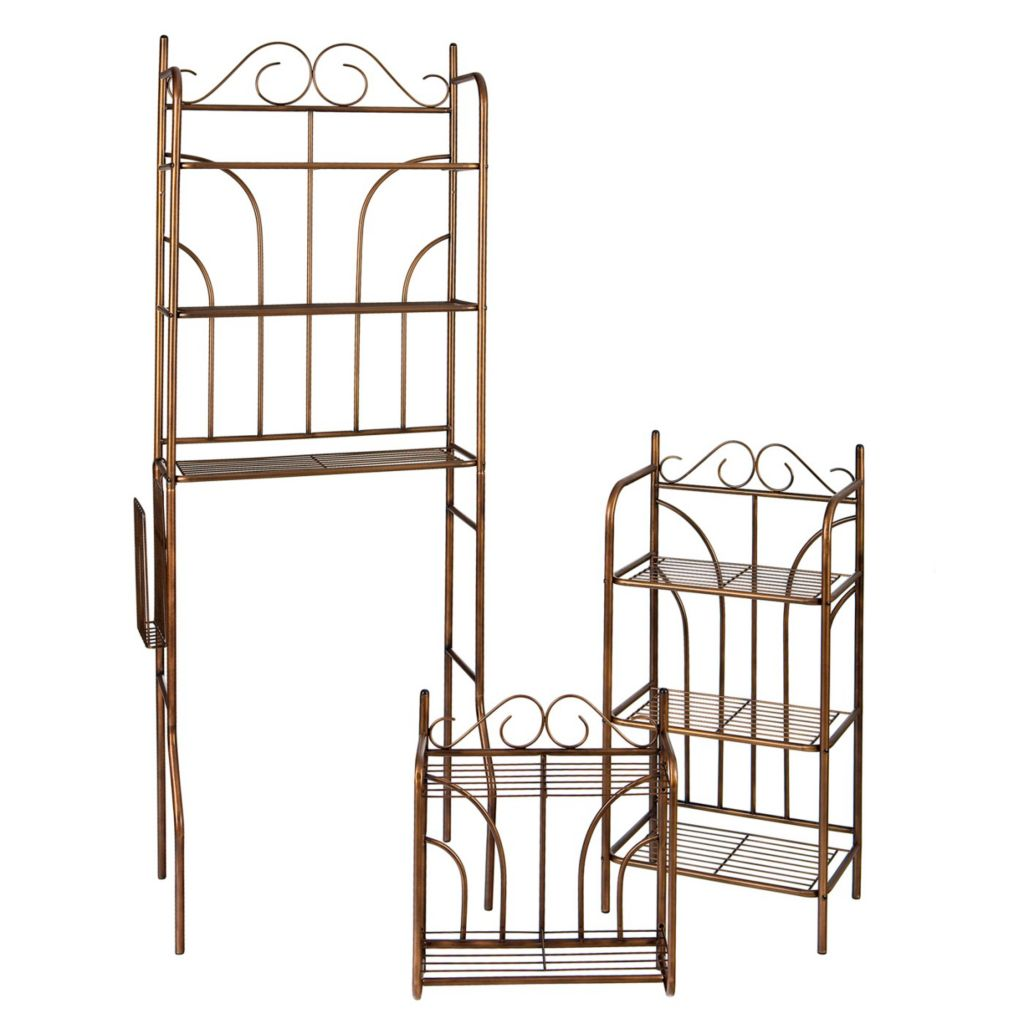 434-160 - Holly & Martin™ Bronze Scroll Three-Piece Bath Set