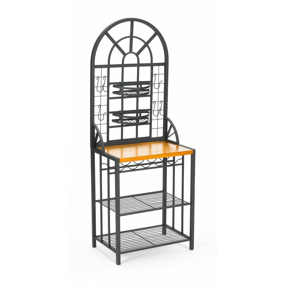 434-161 - Holly & Martin™ Decorative Baker's Rack w/ Wine Storage