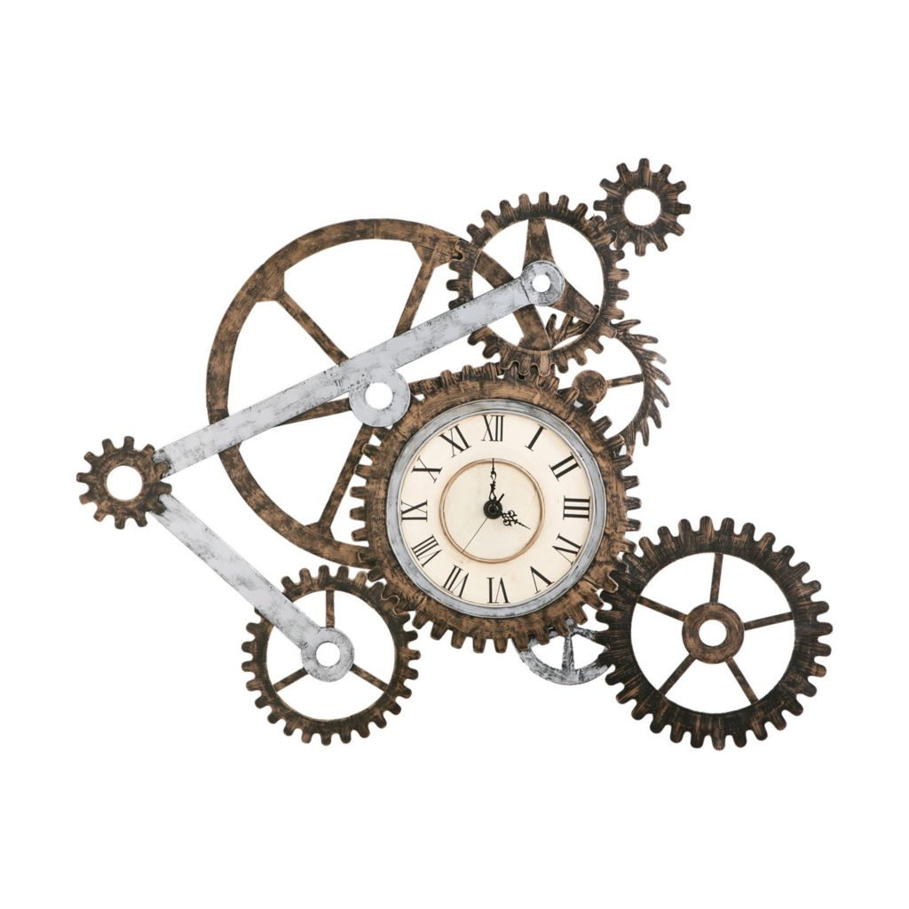 "434-211 - Holly & Martin™ Gear Clock 33"" x 41"" Wall Art"