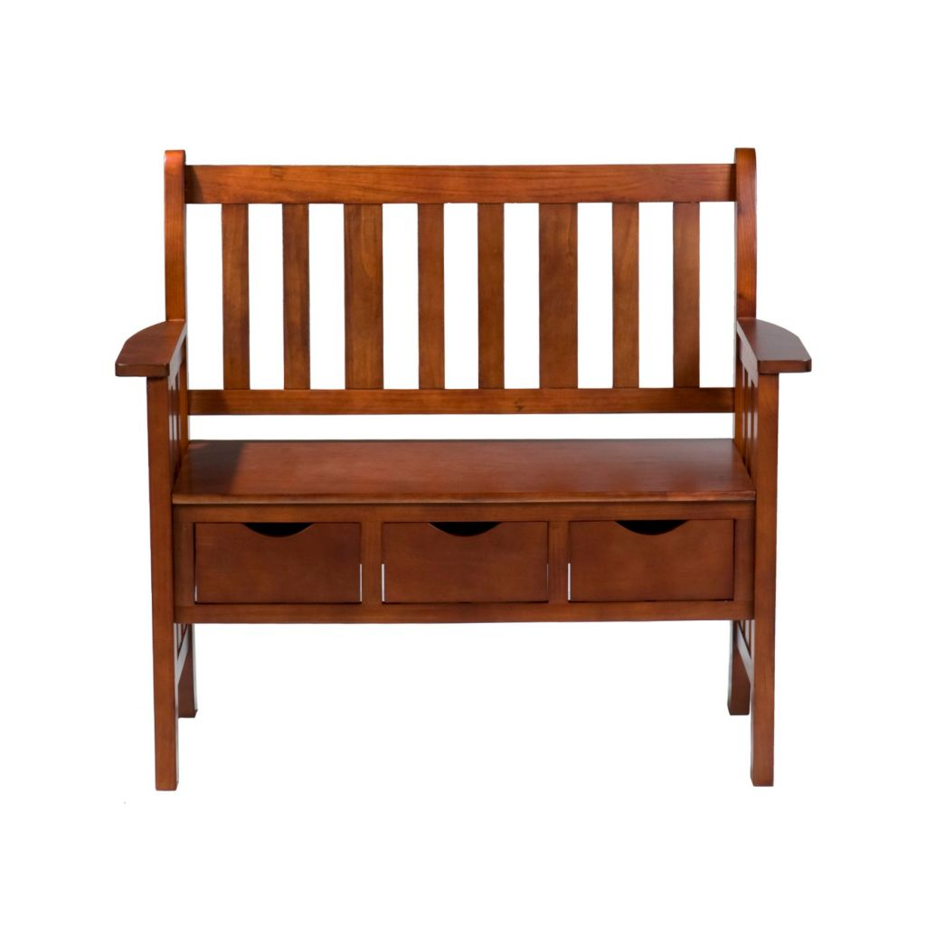 434-220 - Holly & Martin™ Three-Drawer Oak Country Bench