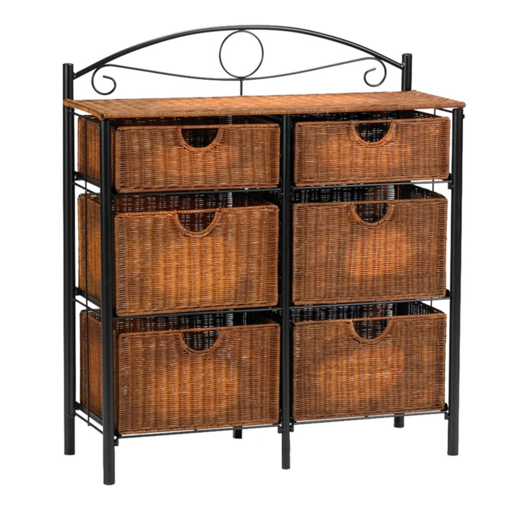 434-244 - Holly & Martin™ Iron Wicker Storage Chest