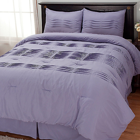434-348 - Cozelle® ''Wavy Tuck'' Four-Piece Comforter Set