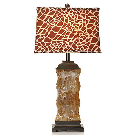 434-409 - Treasured Lighting 29'' Swirling Maasai Animal Safari Table Lamp