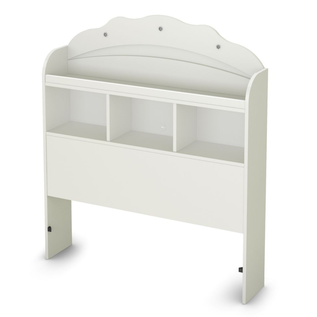 "434-479 - South Shore® Furniture Pure White Tiara Collection 39"" Twin Bookcase Headboard"