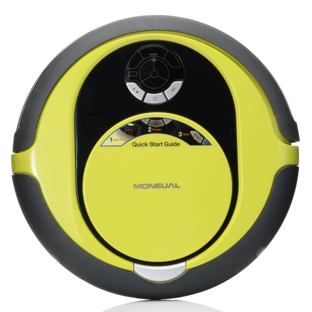 "434-602 - Moneual® Rydis MR6550 14"" Floor Care Robot Cleaner Vacuum & Dry Mop"