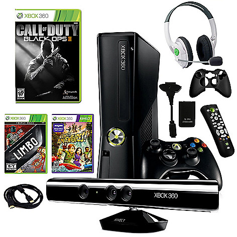 434-633 -  Xbox 360 Slim 4GB Kinect Fun Bundle w/ Three Games & Accessories