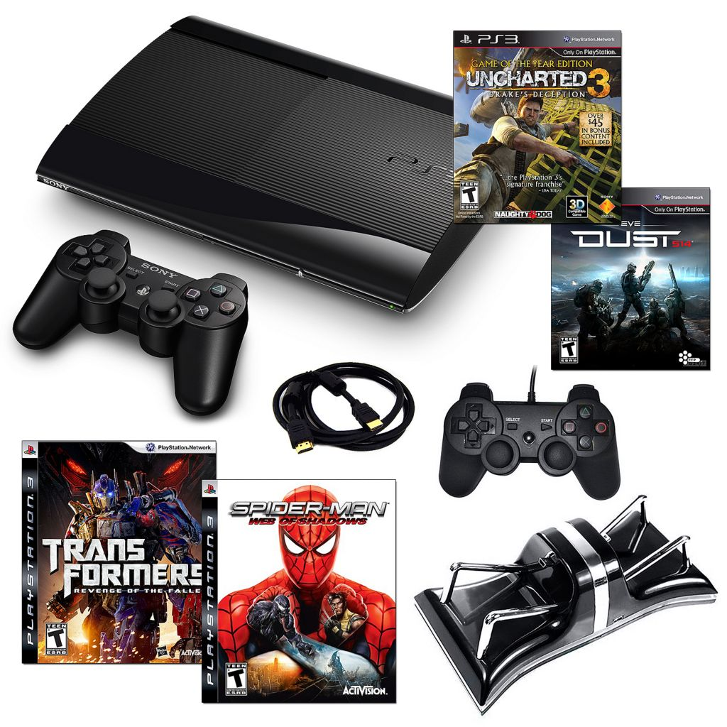 434-634 - Playstation 3 Slim 250GB Bundle w/ Four Games & Accessories