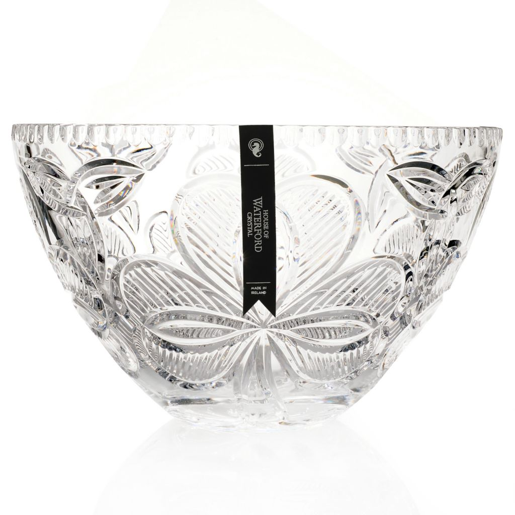 "434-825 - House of Waterford® Crystal Irish Shamrock 10.75"" Crystal Bowl"