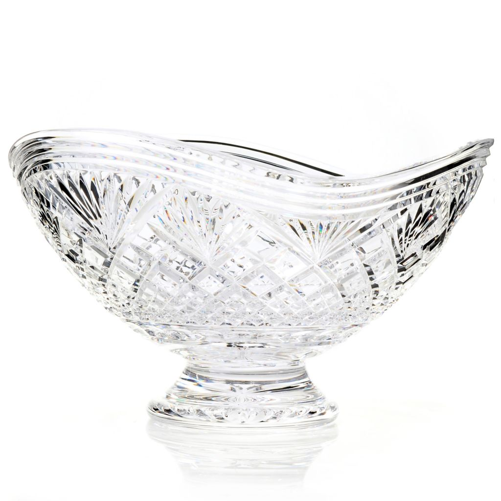 "434-832 - House of Waterford® Cascade Limited Edition 12.5"" Crystal Centerpiece Bowl"