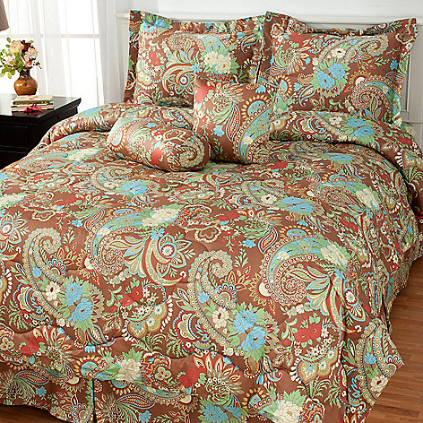 434-845 - North Shore Linens™ Six-Piece Paisley 300TC Cotton Bedding Ensemble
