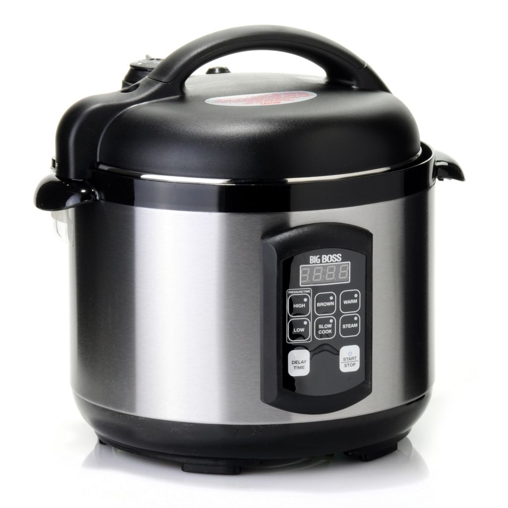 434-897 - Big Boss™ Five-Piece 900W 5 qt Stainless Steel Pressure Cooker