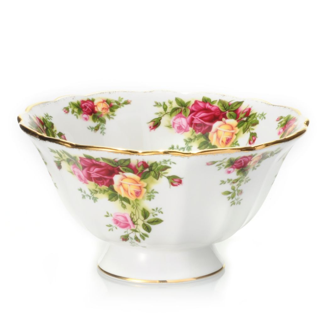 "434-961 - Royal Albert® Old Country Rose 50th Anniversary Bone China 6-3/4"" Footed Bowl"