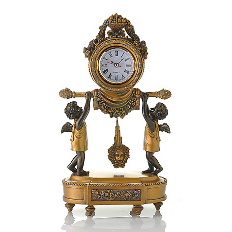434-968 - Style at Home with Margie 14'' Time for Cherubs English-Inspired Accent Clock
