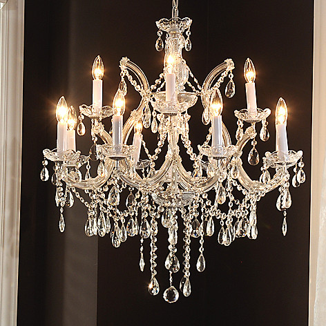 435-036 - Crystal Lighting Statements 30'' Maria Theresa Collection Crystal Glass Chandelier