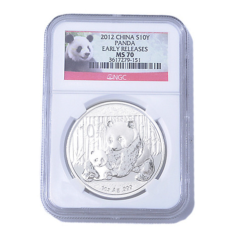 435-056 - 2012 1 oz Silver NGC MS70 ER China Panda 10 Yuan Coin