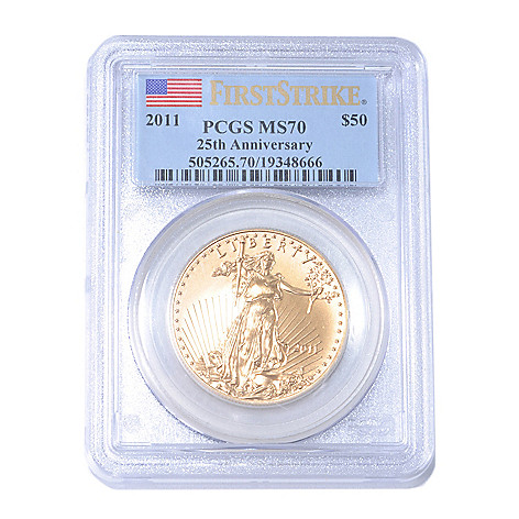 435-222 - 2011 $50 Gold Eagle 25th Anniversary MS70 PCGS Coin