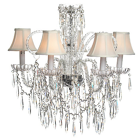 435-297 - Crystal Lighting Statements 25'' Venetian-Style Crystal Glass Five-Arm Chandelier