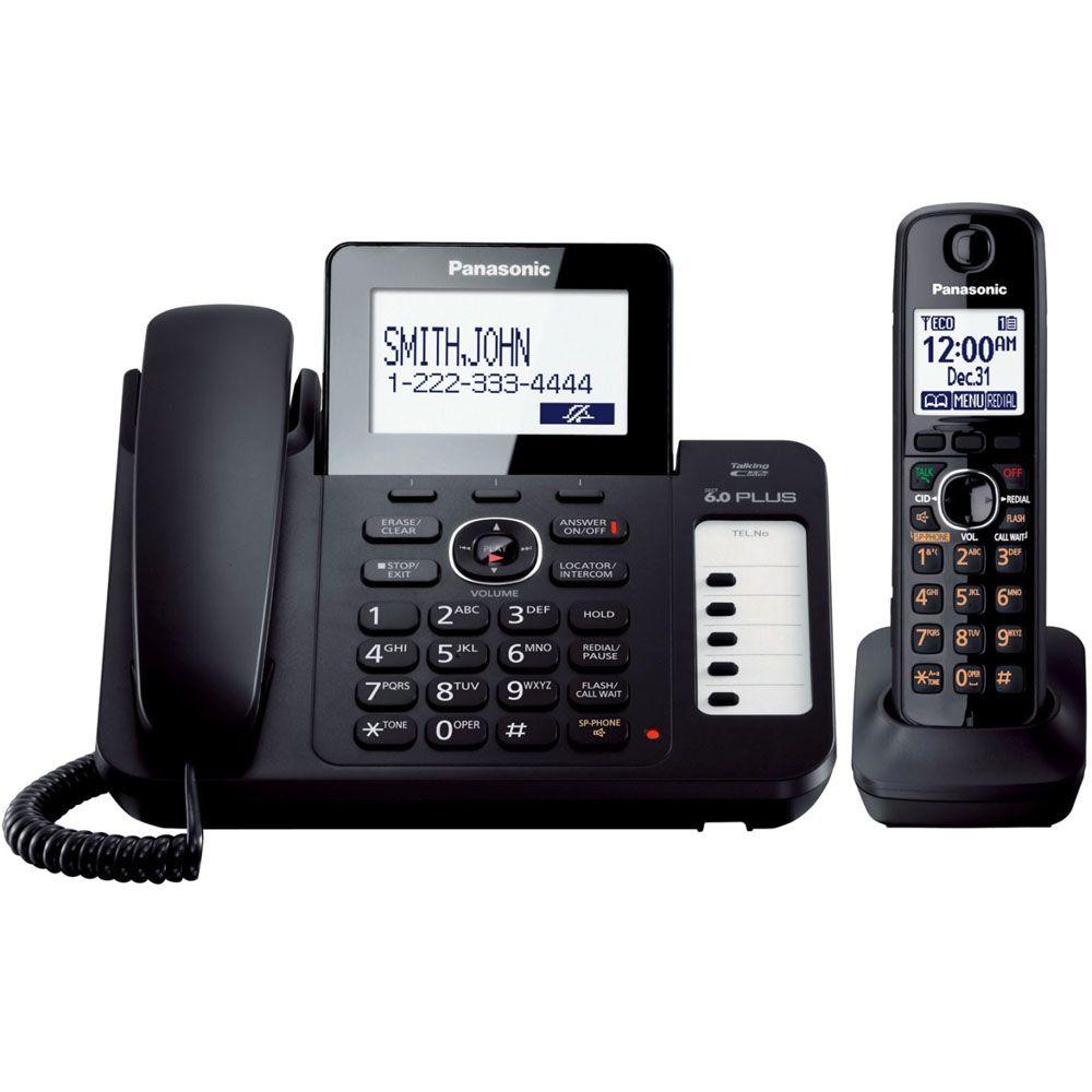 435-320 - Panasonic KX-TG6671B DECT 6.0 Cordless System w/ 1 Corded & 1 Cordless Handset