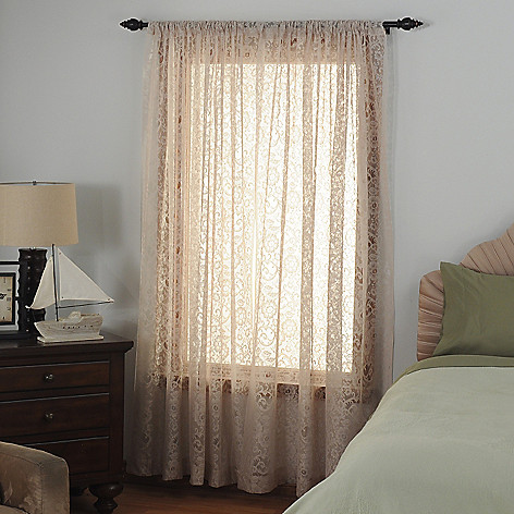 435-368 - Laura Ashley® Microfiber Lace Window Panel Pair