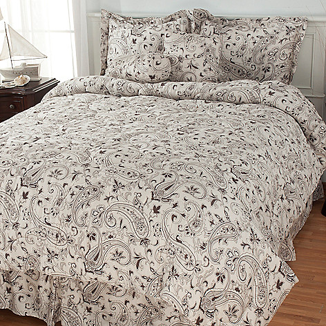 435-442 - North Shore Linens™ ''Danbury'' 300TC Cotton Six-Piece Bedding Ensemble