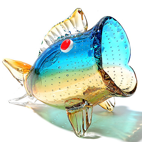 435-443 - Favrile 8.75'' Hand-Blown Art Glass Fish Figurine