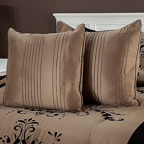 435-462 - North Shore Linens™ ''Helena'' Euro Decorative Pillow Pair
