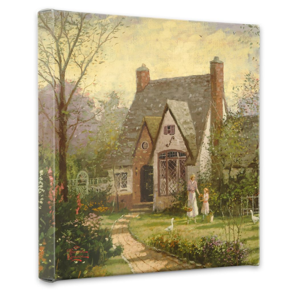 "435-468 - Thomas Kinkade ""The Cottage"" 14"" x 14"" Gallery Wrap"
