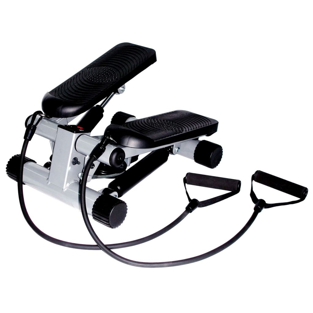 435-493 - Sunny Health & Fitness® Mini Stepper w/ Resistance Bands