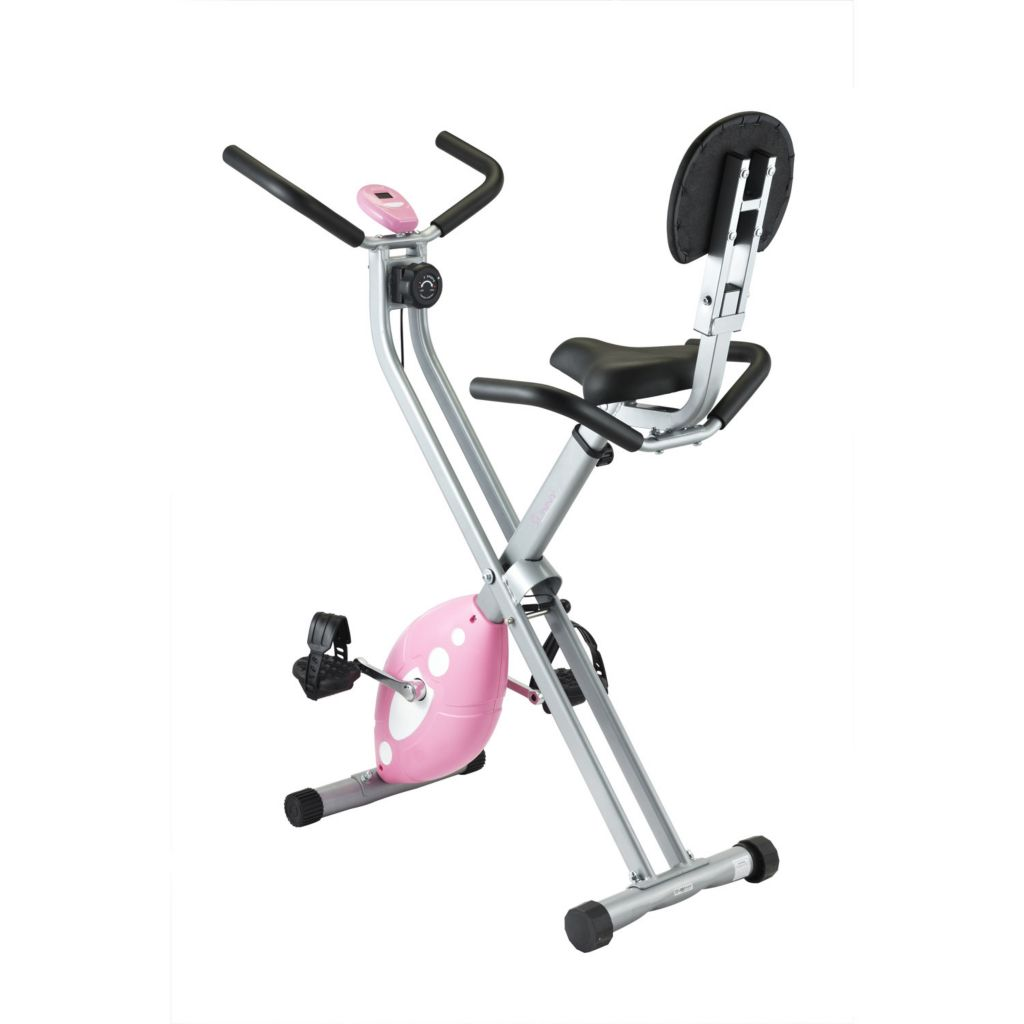 435-497 - Sunny Health & Fitness® Folding Pink Recumbent Bike