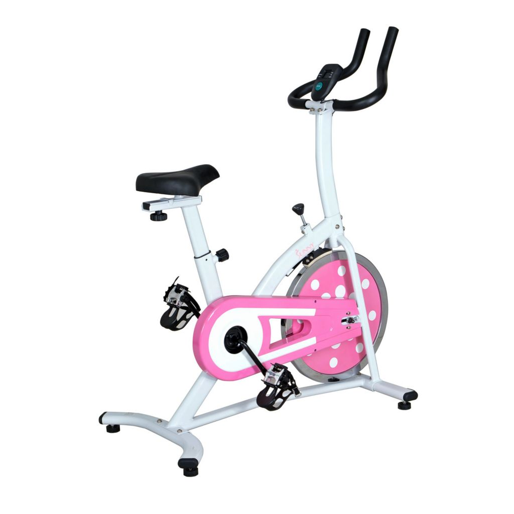435-506 - Sunny Health & Fitness® Pink Indoor Cycling Bike
