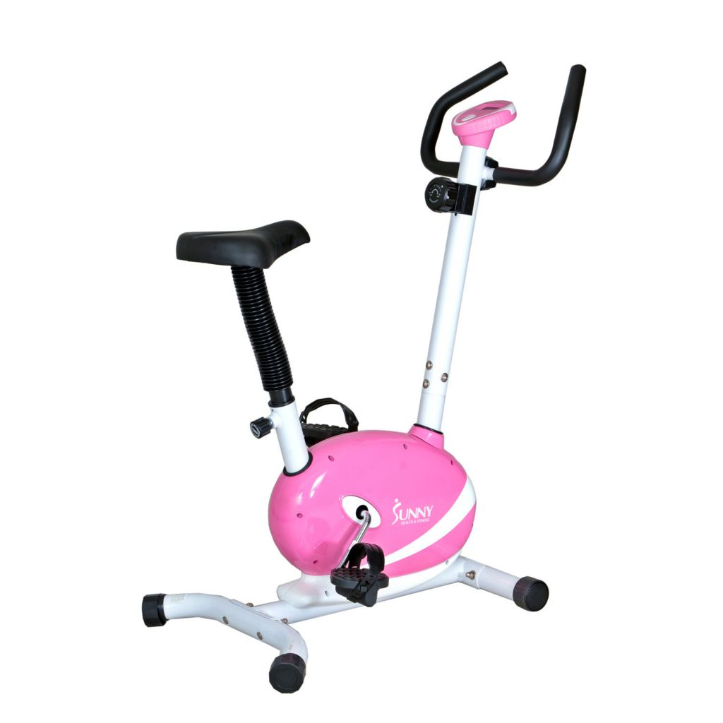 435-509 - Sunny Health & Fitness® Pink Magnetic Upright Bike