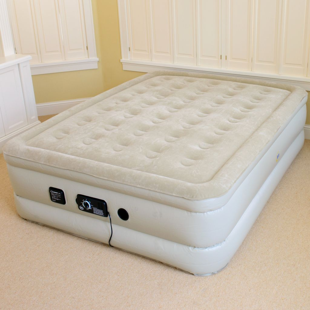 "435-582 - Serta® Perfect Sleeper® 20"" Raised Air Bed w/ Never Flat™ Pump"