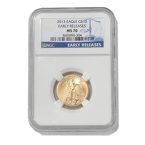 435-595 - 2013 $10 Gold Eagle MS70 NGC Early Release Coin