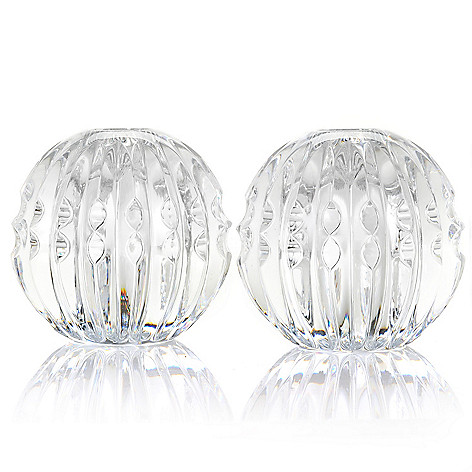 435-648 - Waterford® Illuminology Candela Ball 3.25'' Candlestick Holder Pair