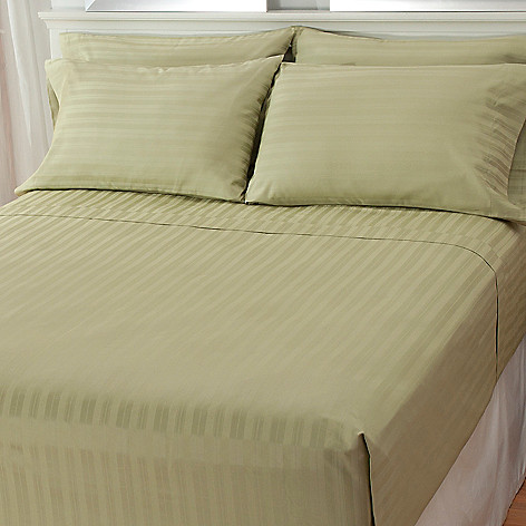 435-650 - North Shore Linens™ 750TC Cotton Damask SureSoft® Six-Piece Sheet Set