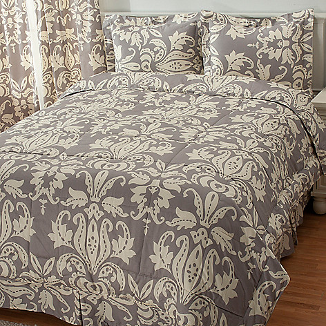 435-701 - North Shore Linens™ 300TC Antique Medallion Four-Piece Comforter Set