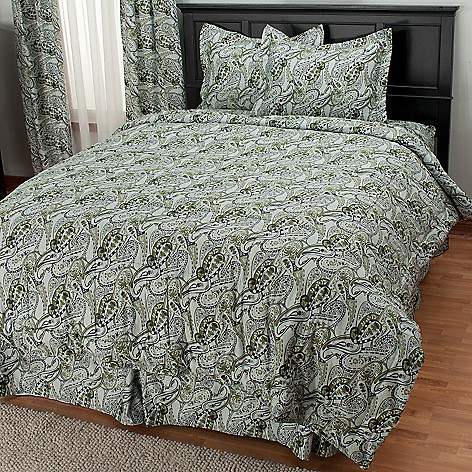 435-717 - North Shore Linens™ 300TC Egyptian Cotton Paisley Four-Piece Comforter Set