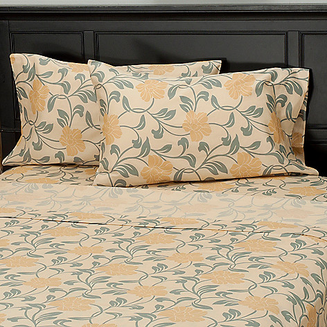435-721 - North Shore Linens™ 300TC Egyptian Cotton Floral Sateen Pillowcase Pair