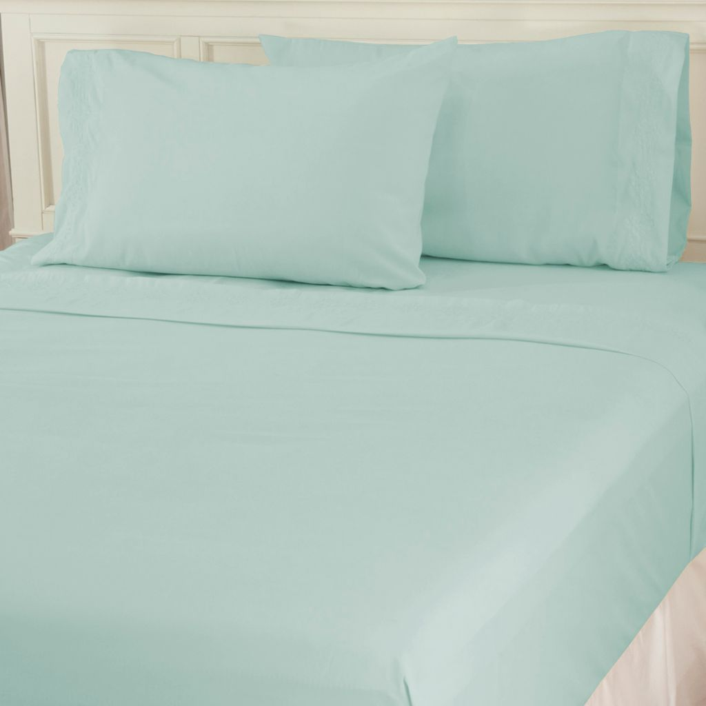 435-729 - Cozelle® Four-Piece Microfiber Embroidered Sheet Set