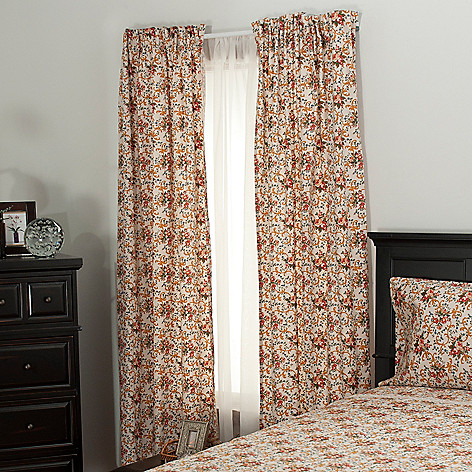 435-736 - North Shore Linens™ 300TC Egyptian Cotton Parisian Floral Window Panel Pair