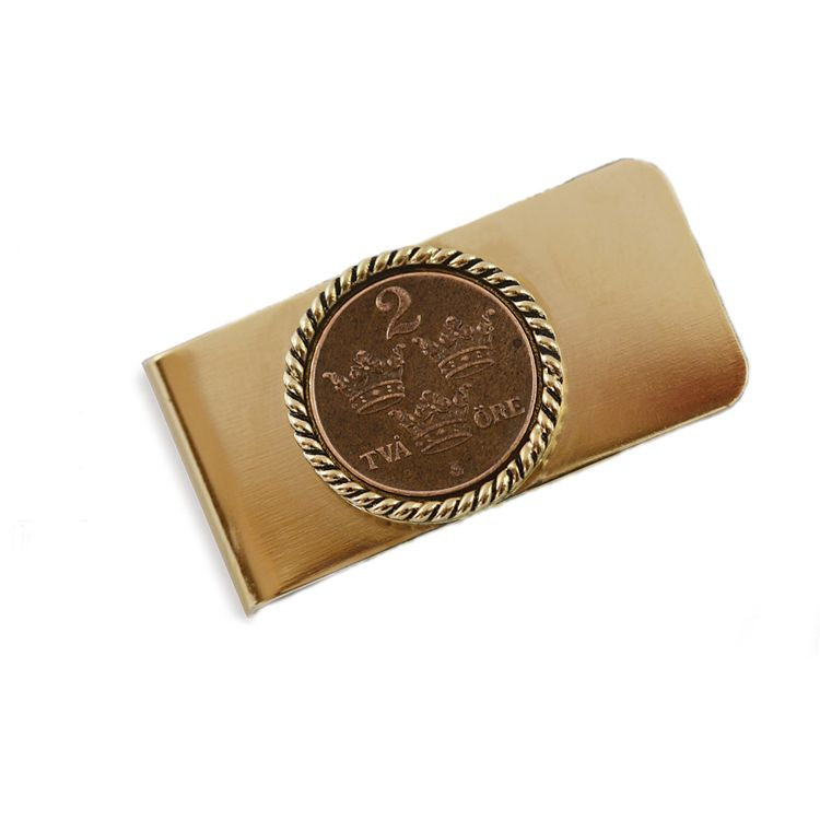 435-979 - Swedish Coin ORE Crown Moneyclip