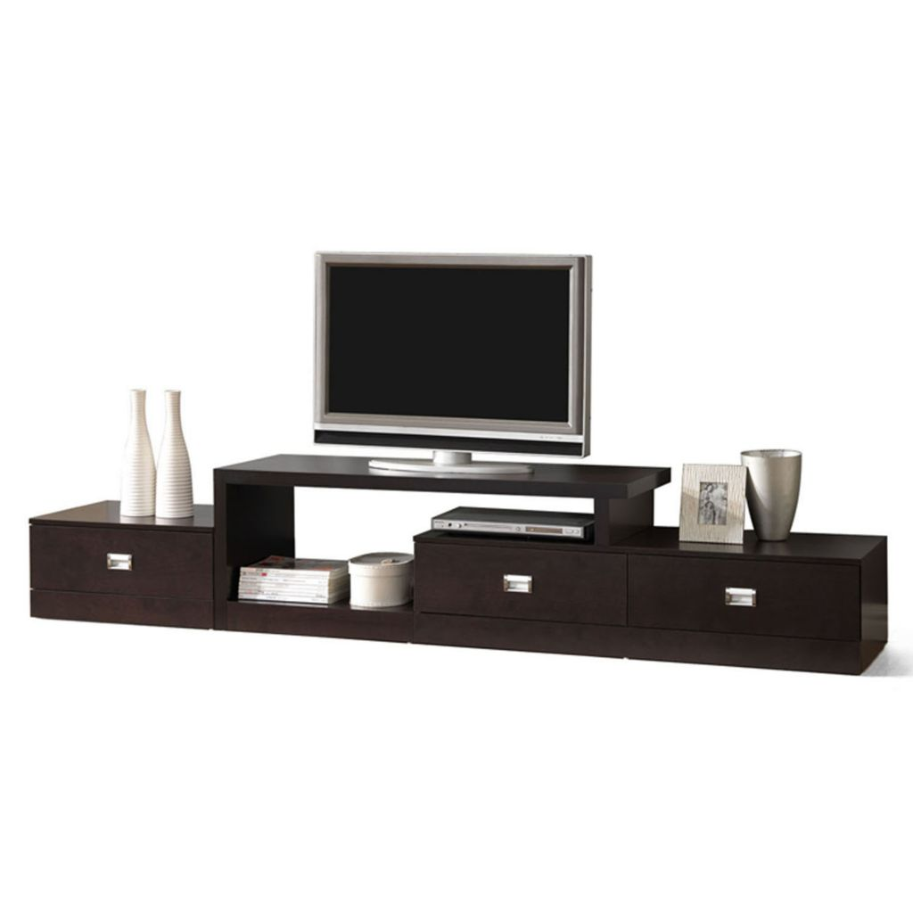436-046 - Baxton Studio Marconi Brown Asymmetrical Modern TV Stand