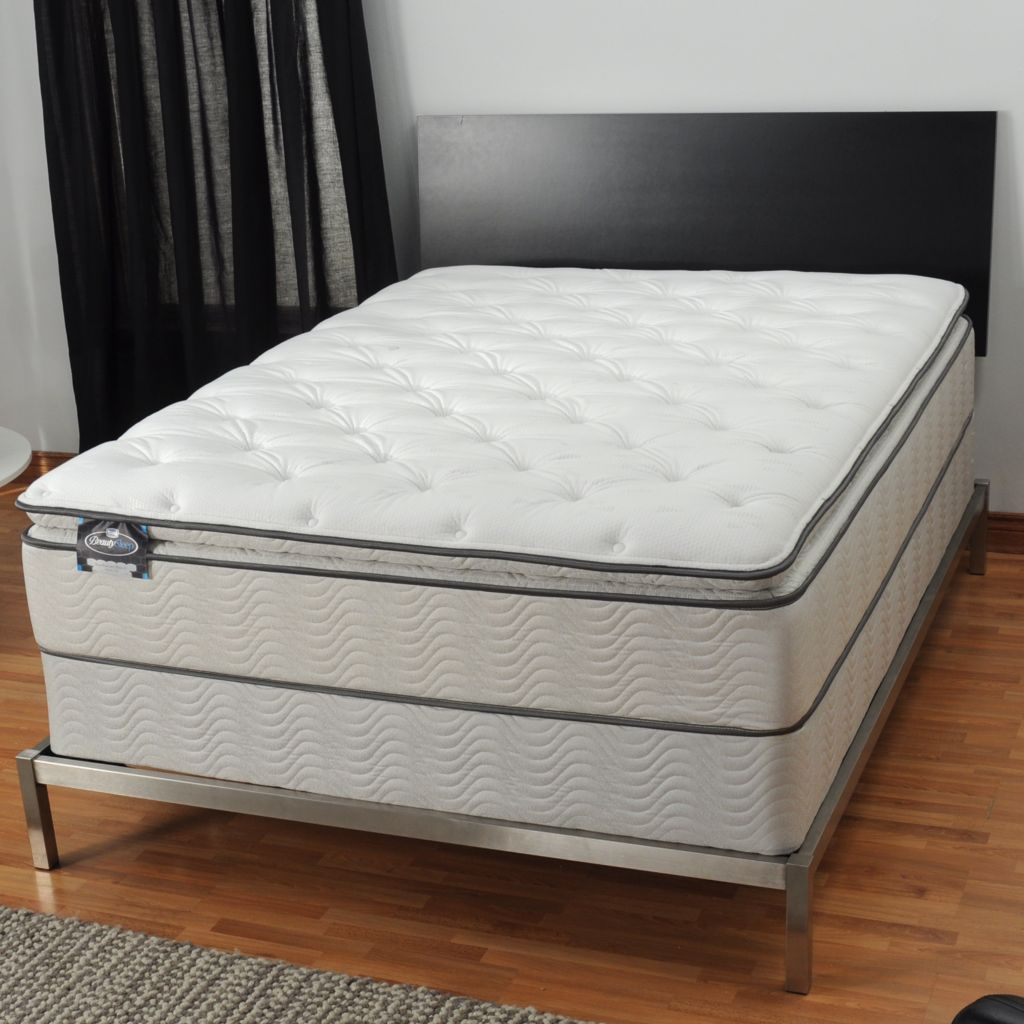 "436-096 - Simmons® BeautySleep® ""Manhattan"" Plush Pillowtop Mattress Set"