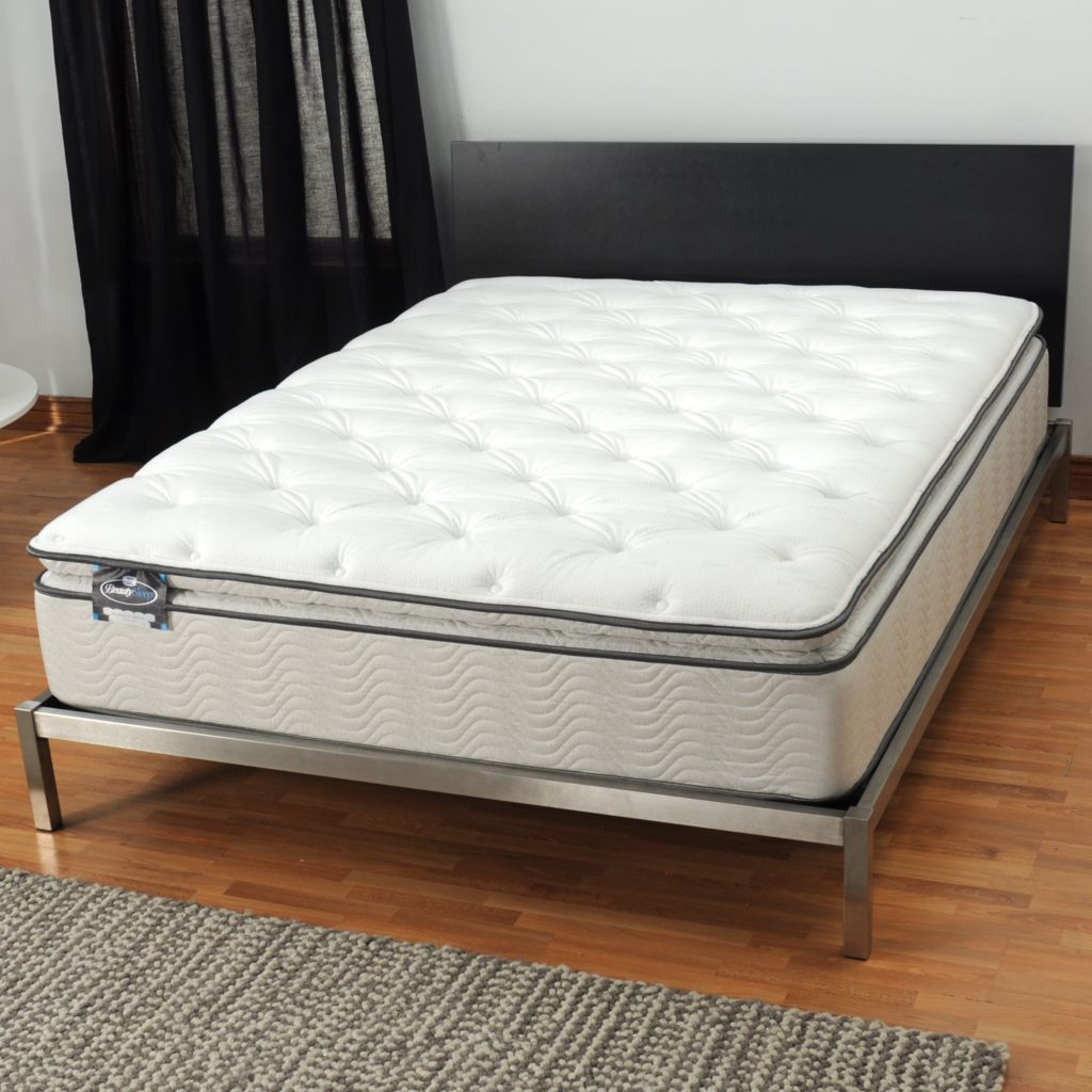 "436-097 - Simmons® BeautySleep® ""Manhattan"" Plush Pillowtop Mattress ONLY"
