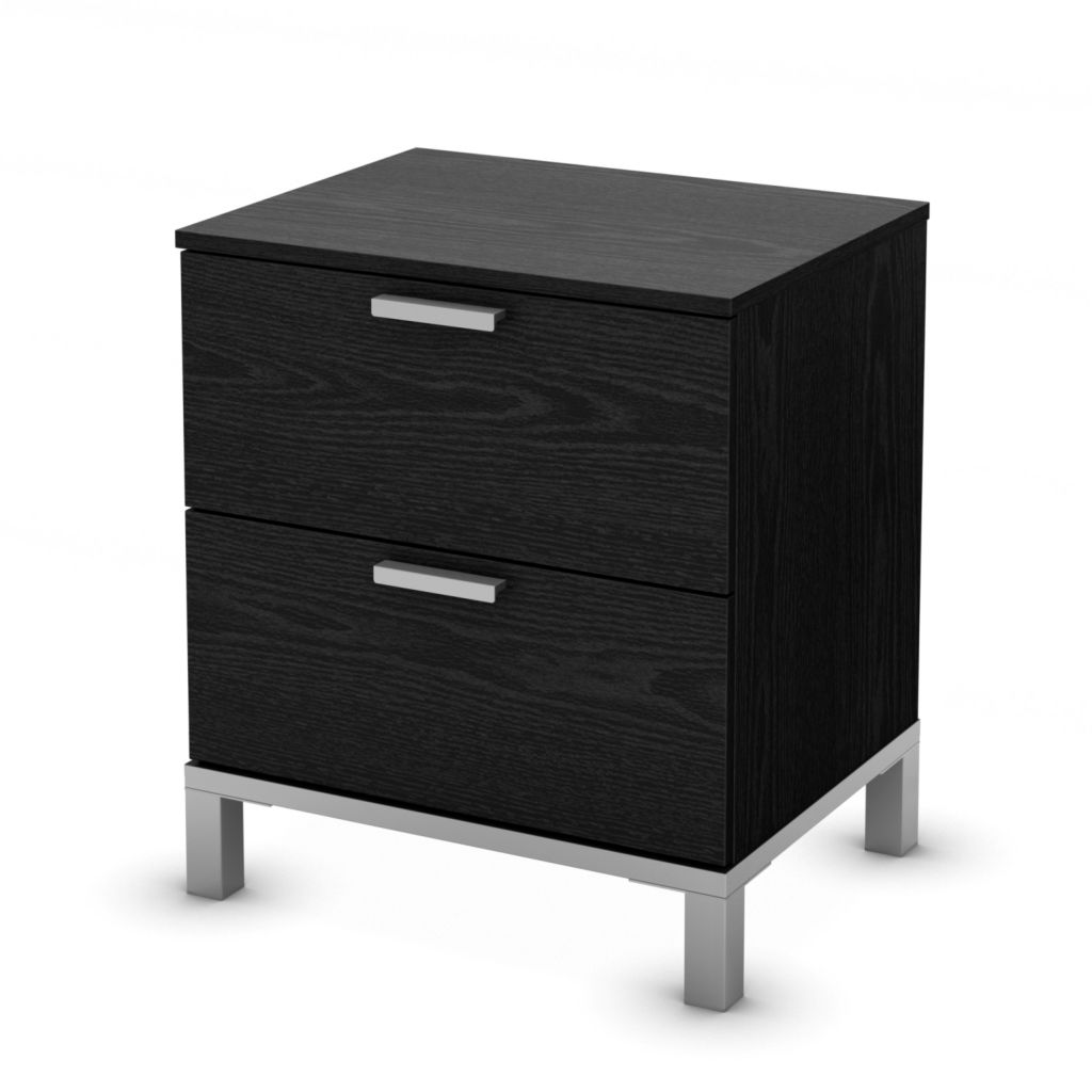 436-160 - South Shore® Flexible Collection Black Oak Storage Drawers
