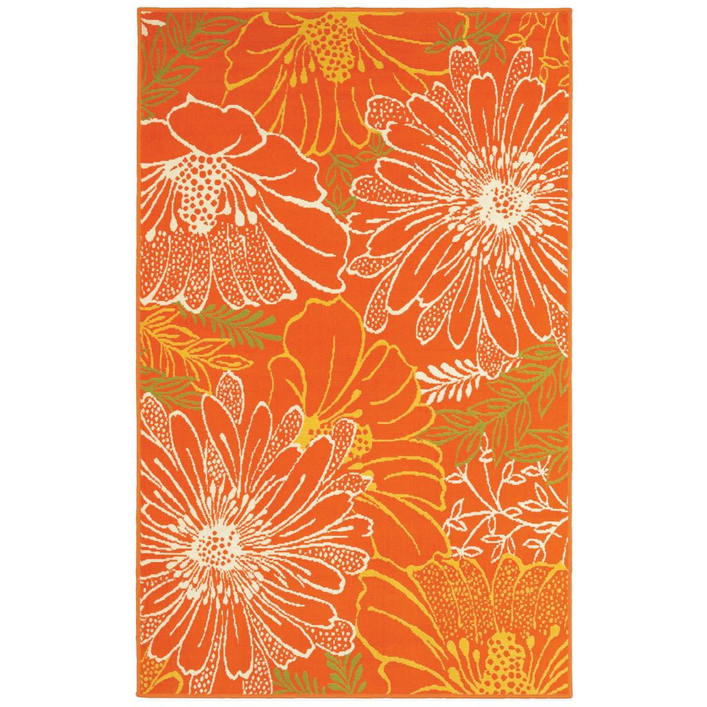 436-162 - Shaw Living™ Al Fresco Indoor/Outdoor Collection Dasies Woven Rug