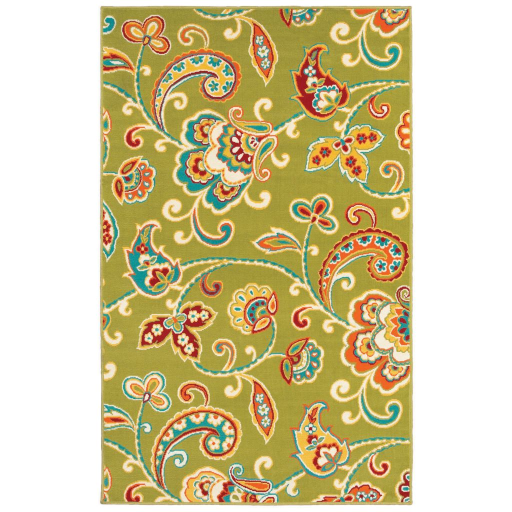 436-173 - Shaw Living™ Al Fresco Indoor/Outdoor Collection Paisley Woven Rug