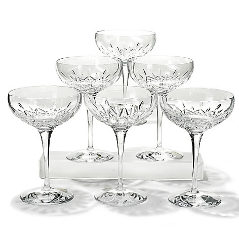 436-209 - Waterford® Crystal Lismore Essence Set of Six 12 oz Champagne Saucers