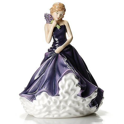 436-228 - Royal Doulton Flower of the Month 7'' Bone China Figurine -Signed